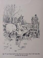 La chasse, Fox & chiens ouvrir une porte pour le huntsman........ antique punch Cartoon