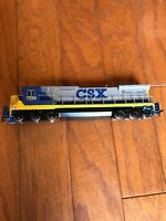 Bachmann spectrum ho scale csx locomotive #7598 GE Dash 8 40c