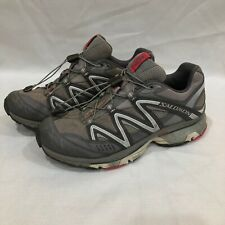 Salomon XT Wings 2 Trail Running Shoe Size 9.5 Gray and White, Gently Used