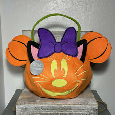 Disney Minnie Mouse Trick Or Treat Bag Glows In The Dark Fluorescent Halloween