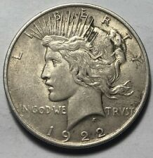 United States 1922 Peace Silver One Dollar Coin