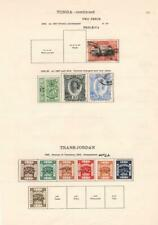 TONGA/TRANSJORDAN: 1920-1935 - Ex-Old Time Collection - Album Page (33115)