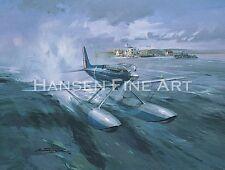 Supermarine S6b Schneider trophy Aviation Aircraft Painting Art Print
