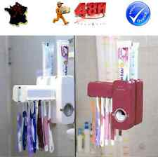 SET DISTRIBUTEUR AUTOMATIQUE DENTIFRICE + SUPPORT PORTE RANGE BROSSE A DENTS