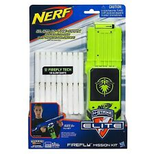 Brand New NERF Elite FIREFLY MISSION KIT 18 Glow DARTS Official