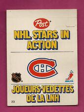 RARE 1981-82 CANADIENS ACTION PLAYER POST CARD (MARIO TREMBLAY ) (INV#0133)