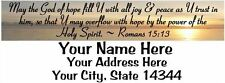 "Bible Verse 30pcs Personalized Return/Mailing Address labels 1""x2.625"" Free S/H"