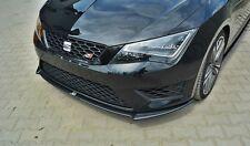 Cup Spoilerlippe Front Ansatz Diffusor Schwarz Matt SEAT LEON 5F III CUPRA / FR
