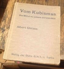 VOM KUBISMUS Albert Gleizes GERMAN ART BOOK 1922 CUBISM Free US Shipping RARE