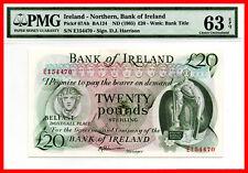 IRLANDA DEL NORTE NORTHERN IRELAND 20 Pounds 1985 Pick 67Ab PMG 63 aUNC