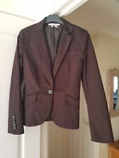 Gorgeous Zara Brown Tailored Jacket, Smart, Collared, Eur Size S, (uk 8/10) VGC