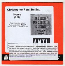 (GL152) Christopher Paul Stelling, Horse - 2015 DJ CD