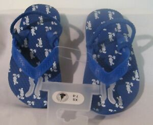 NWT Disney Store Blue Flip Flop Sandals Shoes with Mickey Mouse Size 7-8