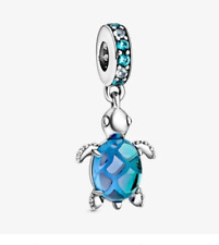 Pandora Tortugas Marinas encanto colgante de cristal de Murano