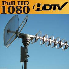 DIGITAL POWER AMPLIFIED HDTV DTV VHF UHF OUTDOOR HD ROTOR REMOTE TV ANTENNA HX