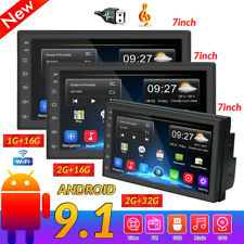 "7"" Doble 2 DIN Coche Estéreo MP5 Reproductor Android9.1 Wifi BT GPS Radio 1G+16G"
