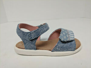 Toms Strappy Canvas Sandals, Navy, Toddlers 5 M