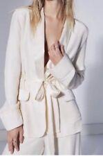 Free People Jill Blazer White Tuxedo Ltd Edition 10