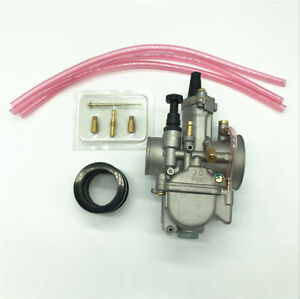Super Performance CARB Motorcycle Racing Carburetor Kit 30mm Power Jet Aluminum