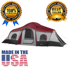 10 Person Ozark Trail Outdoor Camping 3 Room Tent Family Large Instant 20 14 9 X