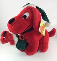 "Clifford Big Red Dog Vintage Christmas Plush 1992 NEW Dakin Stuffed Animal 11"""