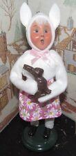 Byers Choice Caroler Easter Bunny Girl with Chocolate Bunny 2016 *