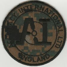 ACCURACY INTERNATIONAL subdued PATCH. MARPAT WOODLAND 'N' VLCRO. FREE SHIPPING
