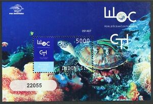 E001E INDONESIA 2009 Marine Life, Turtle, Corals Souvenir Sheet S/S Mint NH