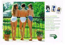 Publicité Advertising 1993 (2 pages) Lingerie sous vetement Culotte DIM