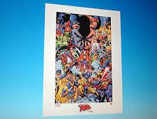 Uncanny X-Men Anniversary Lithograph by artist Joe Quesada Marvel Comics