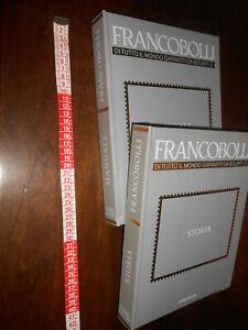 LIBRO-2 VOLUMI Francobolli di tutto il mondo garantiti da Bolaffi.Manuale,Storia