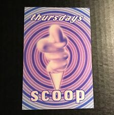 90s NYC Club Flyer: SCOOP Thursdays w/ JONATHAN PETERS & HEX HECTOR @ LIMELIGHT