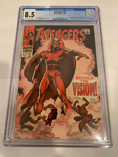 Avengers 57 CGC 8.5 OW to WP 1st Appearance Vision