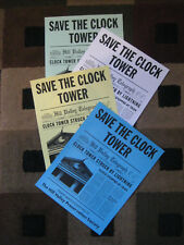 """Back to the Future - Save the Clock Tower Flyers (8.5"""" x 11"""") as seen in movie"""