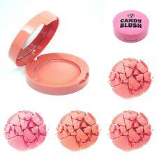 W7 Pressed Powder CANDY BLUSH Pink Peach Blusher Compact Make Up 6g Sealed