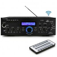 New 200W Bluetooth Home Stereo Mini Amplifier w/ AM-FM USB Mic Aux With Blue LCD
