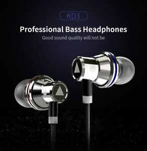 QKZ KD3 Earphones Shocking Anti-noise with Microphone and Sound Quality bass