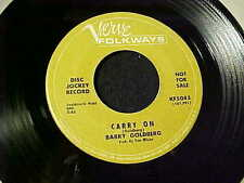 BARRY GOLDBERG~RARE GARAGE PSYCH  DJ Promo 45 MIKE BLOOMFIELD/FRANK ZAPPA Guitar