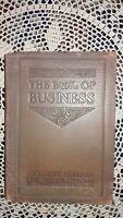 1913, ELBERT HUBBARD SIGNED/INSCRIBED, THE BOOK OF BUSINESS, LEATHER BOUND