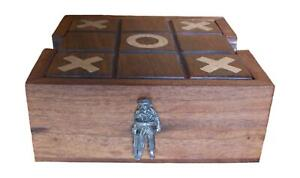 Soldier Wooden Tic Tac Toe Solitaire Game FREE ENGRAVING 561