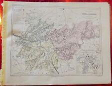 Old Map 1900 France Département Tarn et Garonne Montauban St Antonin Gaylus