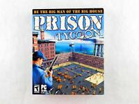 Vintage PRISON TYCOON Big Box PC Computer Game CD-ROM