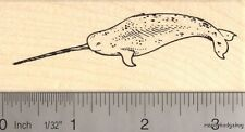 Narwhal, Toothed Whale Rubber Stamp   J13803 WM