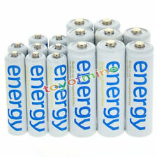 8x AA 3300mAh + 8x AAA 2000mAh Ni-Mh Energy Rechargeable Battery White Cell