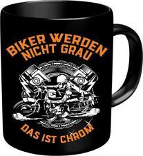 Kaffeebecher Kaffeetasse Kaffeepot Biker nicht grau RAHMENLOS Art. 2639