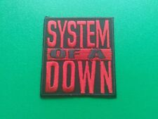 HEAVY METAL PUNK ROCK MUSIC SEW ON / IRON ON PATCH:- SYSTEM OF A DOWN (a) RED