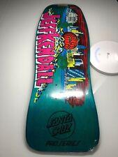 Santa Cruz Jeff Kendall Pumpkin Teal Stain Skateboard Deck 2006 reissue Shrink!