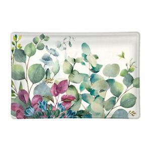 Michel Design Works Glass Trinket / Soap Dish Eucalyptus & Mint - NEW