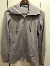 Lululemon women's lilac high collar Stride Jacket hoodie Sz 4