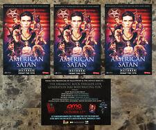 AMERICAN SATAN Movie 2017 Ltd Ed 3 RARE Stickers Lot +FREE Metal Stickers! BVB
